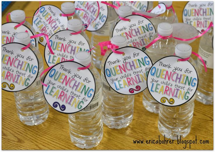 Thank you for Quenching your child's thirst for Learning Water bottle tags by Erica Bohrer