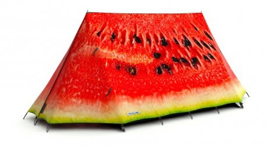 Anyone for a watermelon tent? #watermelon #tent #funny #novelty #camping
