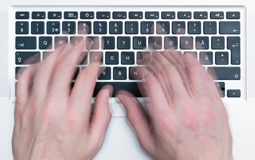 how to get faster at touch typing