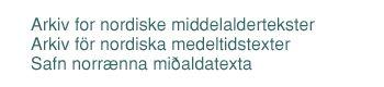 Medieval Nordic Text Archive (Menota)