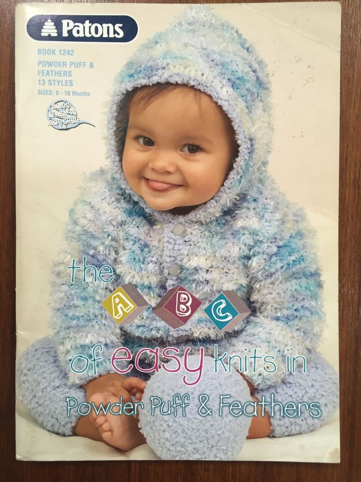 Patons pattern Book 1242 for gorgeous baby items including pants, jackets…