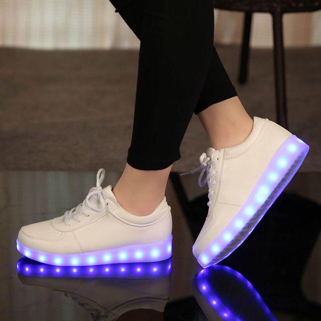 Carregador USB tenis levou feminino simulação Cesta enfant Led Light Up formadores Ocasionais sapatas do Miúdo Menino & Menina Luminosos Tênis Brilhantes sapato