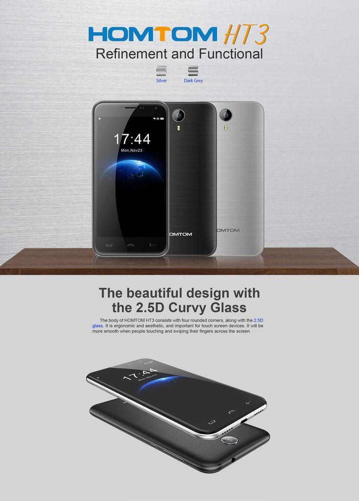 HOMTOM HT3 5 Inch Android 5.1 1GB RAM 8GB ROM MTK6580 Quad-core Smartphone