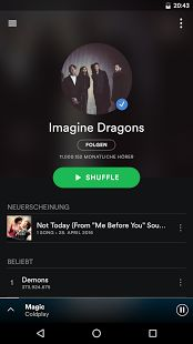 So, if you're a music lover and enjoy listening to songs Spotify premium apk is must have android application for you.