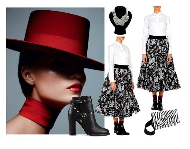 """""""Red in the City"""" by alteregodress on Polyvore featuring Valentino"""