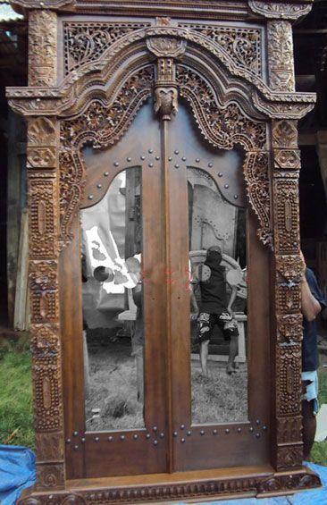 Gebyok Pintu Ukiran Nanas Jawa Jati Pintu Rumah Jati Antik Kuno