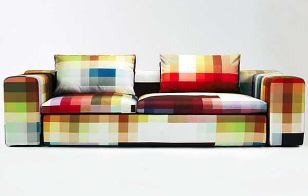 Now that would be a couch to keep residue free. Check out this Cristian Zuzunaga sofa.