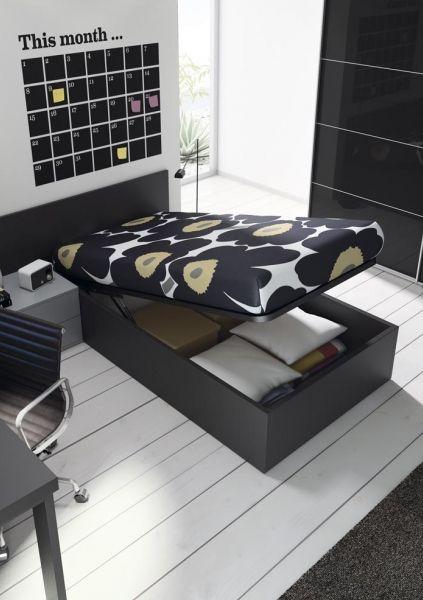 detalle canapé abatible en dormitorio juvenil ::: mobles tatat ::: horta guinardó barcelona