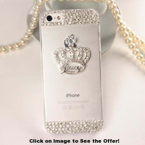iPhone 6 Case, Hundromi(TM) Luxury 3D handmade Crystal Imperial Crown Rhinestone Diamond Bling Clear hard case cover for iPhone 6 4.7 inch Screen – Crystal Diamond clear iPhone 6 (Crown)