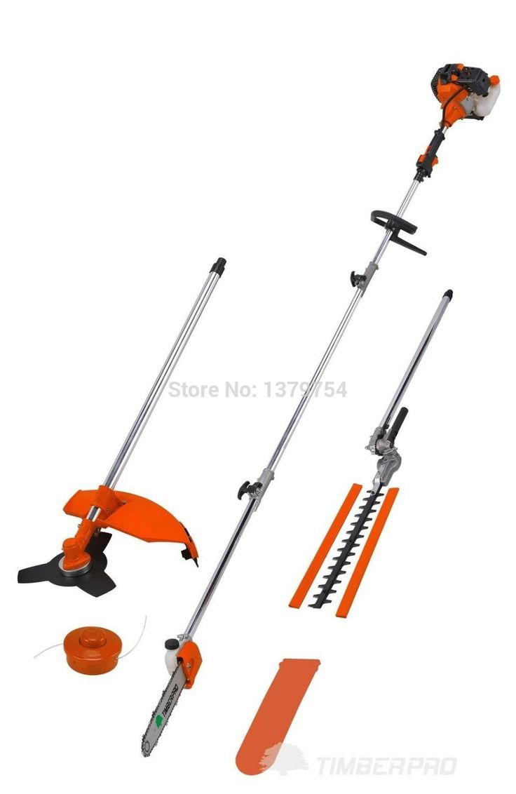 2016 New 5 in 1 Grass cutter with 52cc Engine Multi Brush cutter Petrol strimmer Tree Pruner with 1m extend pole  factory