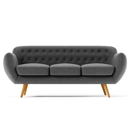 Indigo 3 Seater Sofa, Anthracite Grey