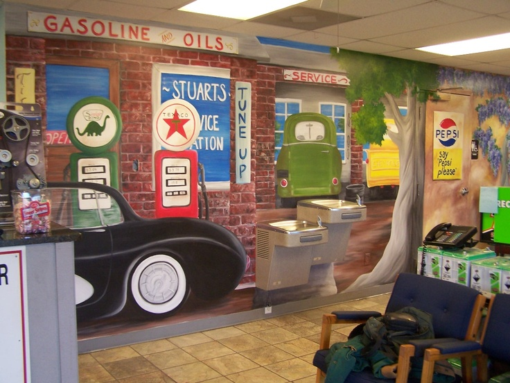 1000 images about murals on pinterest auto shops route for Cleveland gas station mural