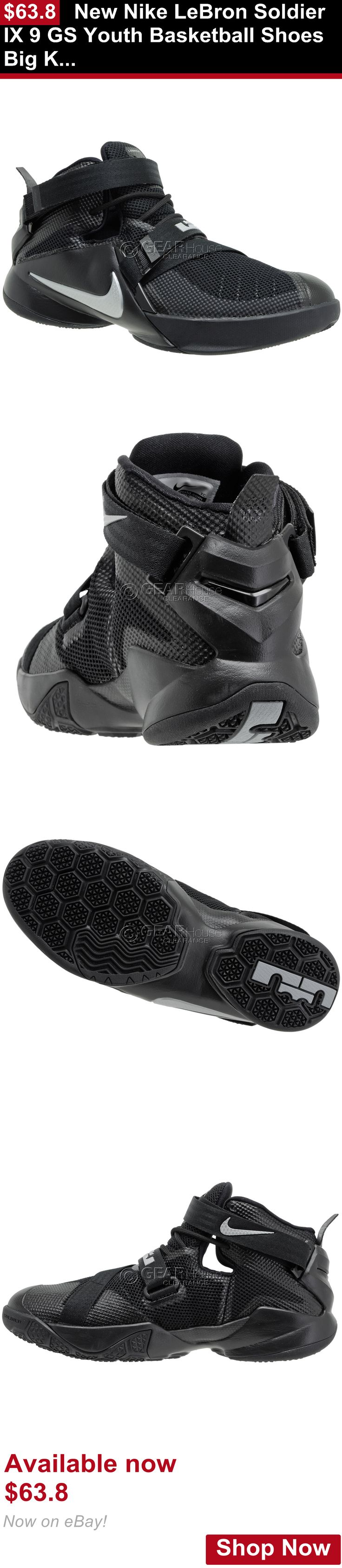 Children boys clothing shoes and accessories: New Nike Lebron Soldier Ix 9 Gs Youth Basketball Shoes Big Kids Boys - Black BUY IT NOW ONLY: $63.8