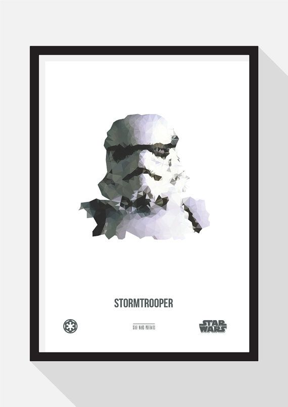 Stormtrooper Portrait by TheDesignCollection on Etsy