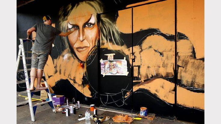 Hit the Bricks - Newspaper article Newcastle Herald Street Art Festival