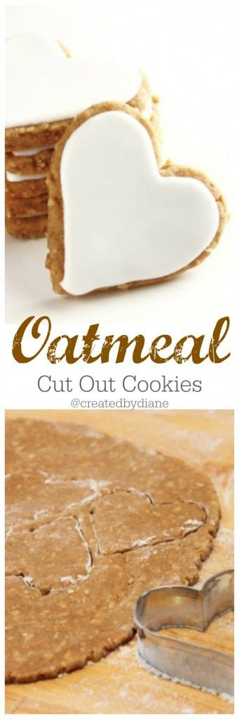 oatmeal cut out cookies @createdbydiane www.createdby-diane.com