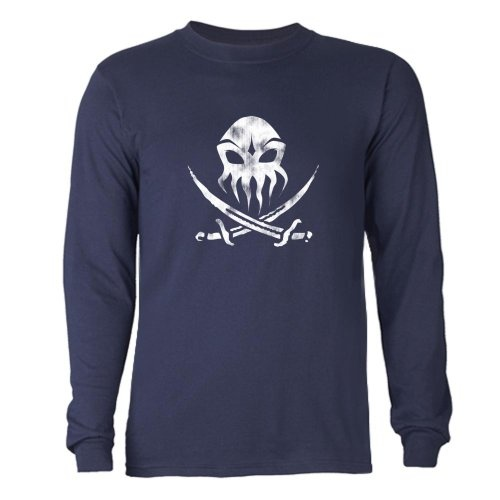Cthulhu Pirate Flag 1 Funny Long Sleeve Dark T-Shirt by CafePress