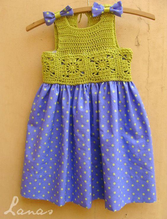 Kumaşla Örgü Kız Çocuk Elbise Modelleri ve Yapılışı 81 - Mimuu.com