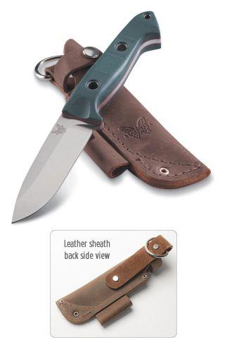 Benchmade 162 Siebert Bushcraft Fixed blade with leather sheath