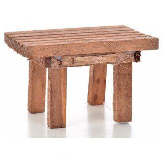 Tavolo legno 8,5 x 6 x 5,5 cm | vendita online su HOLYART