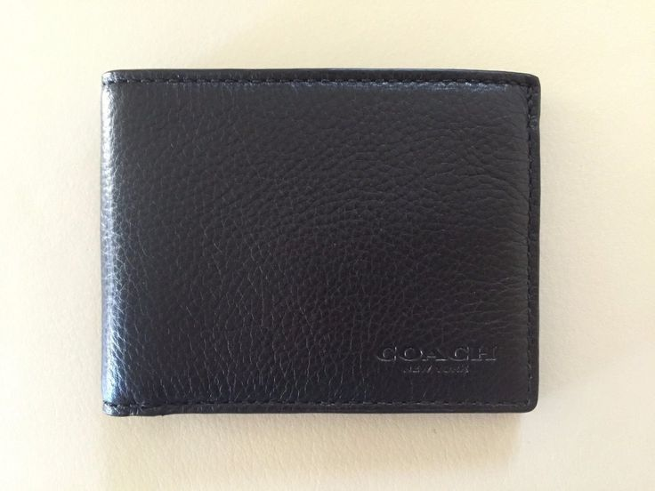 Coach Sport Calf Leather Slim Billfold ID Wallet in Dark Saddle, F75016 CWH