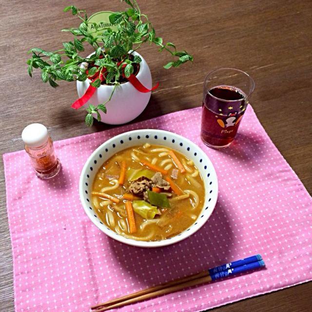 寒い日は煮込みが良いね〜!あったまるぅ〜! (#^_^#) - 12件のもぐもぐ - 味噌煮込みうどん、ほうじ茶 by pentarou