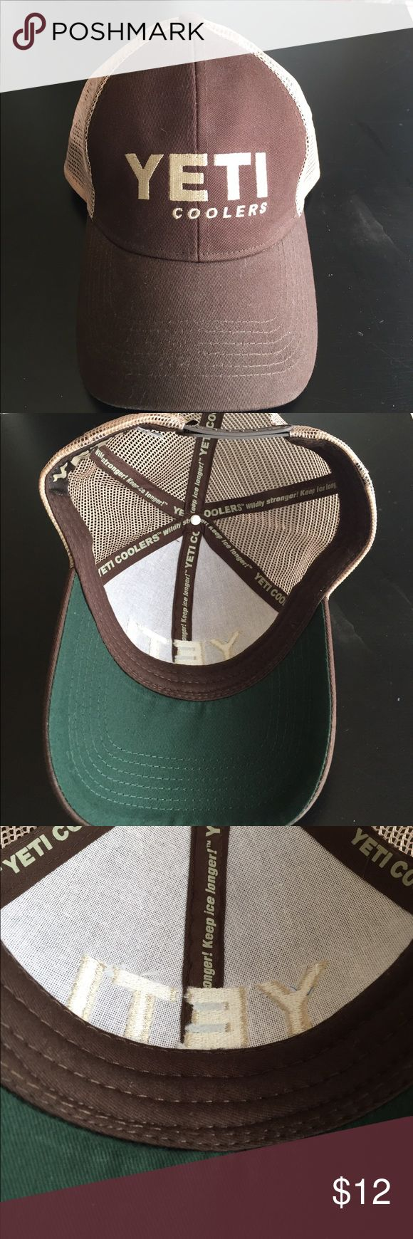 Yeti trucker hat Never worn, like new condition! Dark brown/khaki...unique color for yeti hat! yeti Accessories Hats