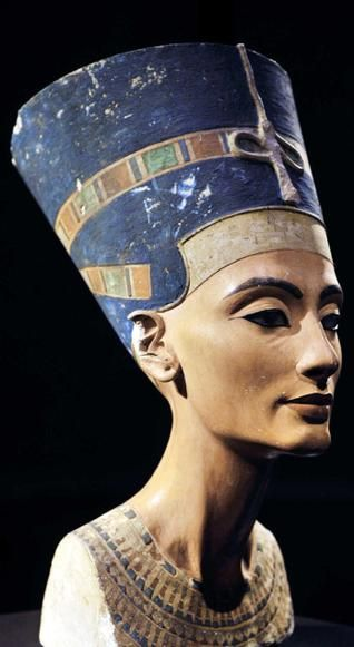 "Ageing gracefullyThe 3,400 year-old bust of Queen Nefertiti of Egypt on display in Berlin's ""Neuse Museum.""  Nefertiti, the ancient Egyptian queen depicted in sculpture whose name means ""the beautiful one has come."""