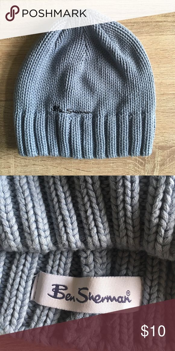 Ben Sherman Knit Hat Beanie Grayish blue Ben Sherman knit beanie/hat Ben Sherman Accessories Hats