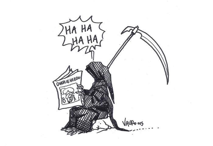 Hommage à Charlie de Vauro http://www.courrierinternational.com/article/2015/01/08/des-dessins-pour-notre-ami-charlie