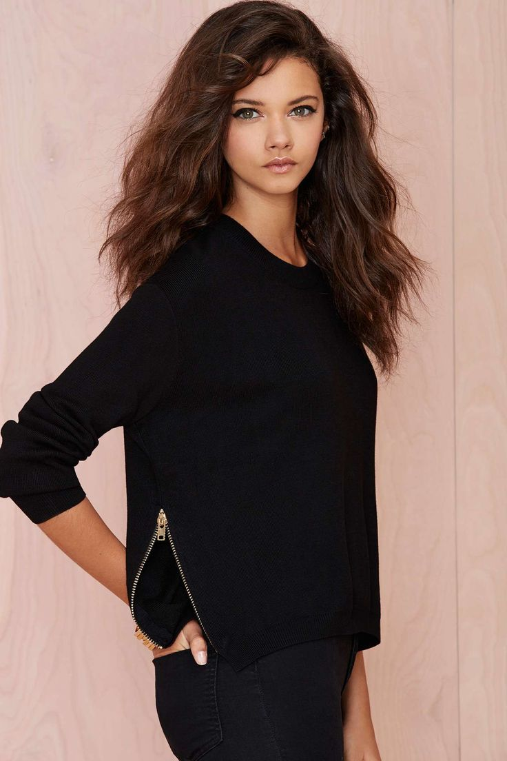 Zip It Ribbed Sweater | Shop Clothes at Nasty Gal
