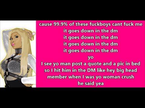 I Just Sit Back & Observe All These Niggas I Done Curved  Nicki Minaj - Down In The Dm (Lyrics) Remix Ft Yo Gotti - YouTube