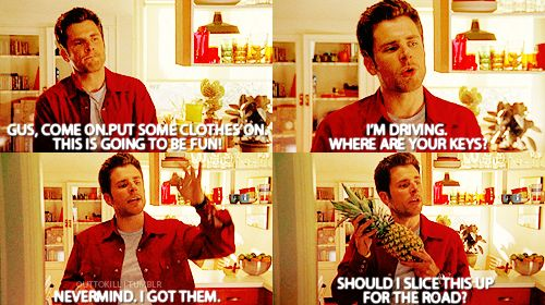the birth of the pineapple <3Movies Tv, Pineapple Appearances, Psych Quotes, Psych Pilot, Pineapple Yo, Psych D, Psych O', Psych 3, Shawn And Gus