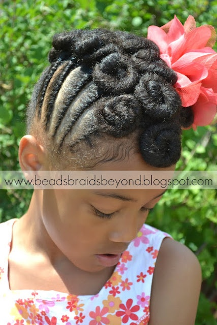 Natural Hair Updo: Twisted Cinnabuns w/ Cornrows | Curly Nikki | Natural Hair Styles and Natural Hair Care