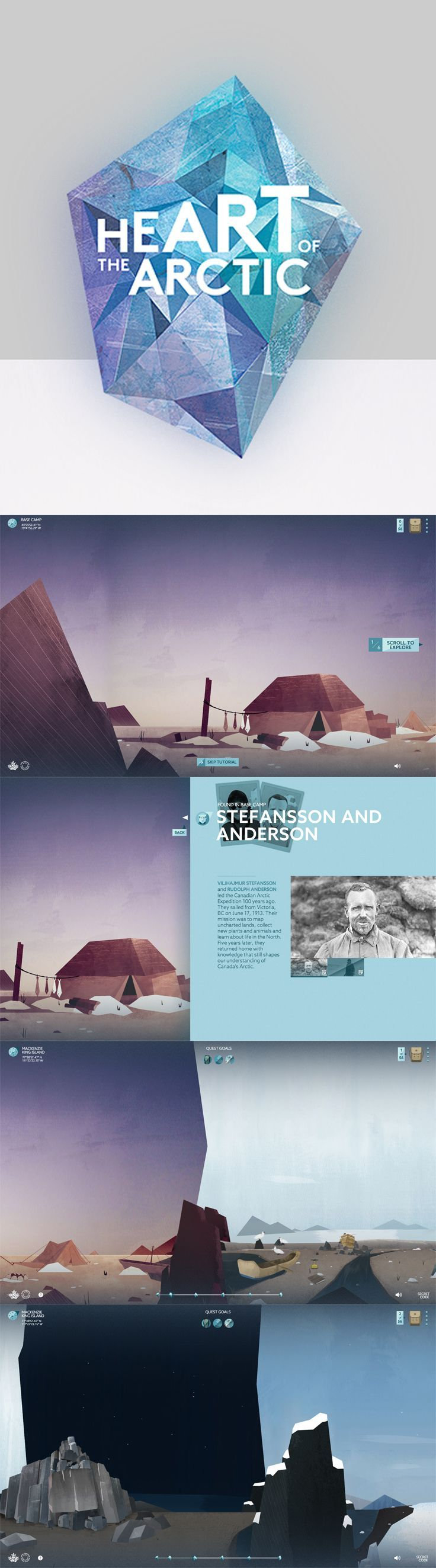 From the unique layout to the chillingly beautiful color palette - we love this web design! #webdesign #colorpalette