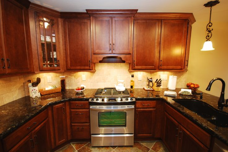 Kitchens With Cognac Cabinets And Slate Countertops