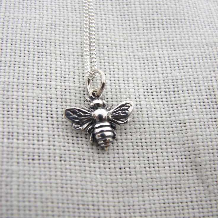 Silver Honey Bee Necklace
