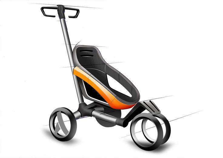 Baby stroller sketch concept