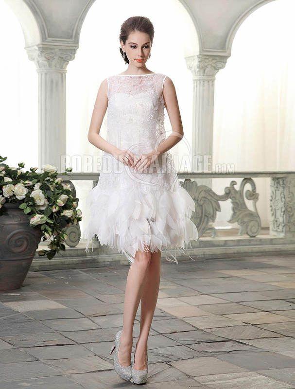 Robe de mariée courte pas cher  robe de mariée  Pinterest