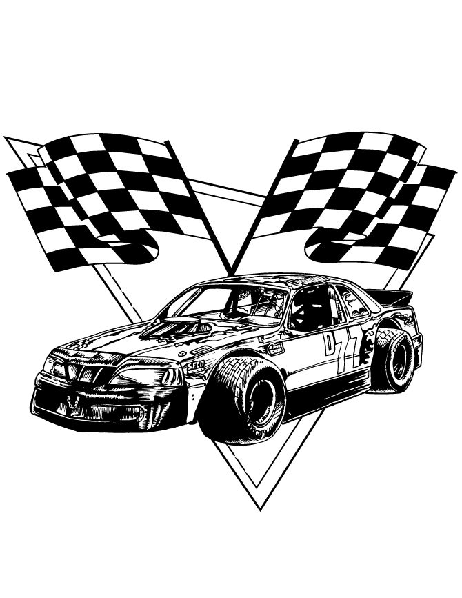 race car checkered flags coloring page h m coloring pages