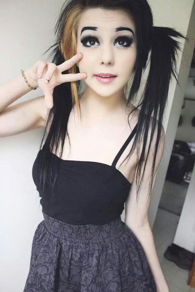 pale! <3 Also GREAT make up, not including the eyebrows..