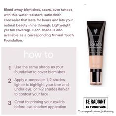1000+ images about Touch Mineral Skin Perfecting Concealer ...