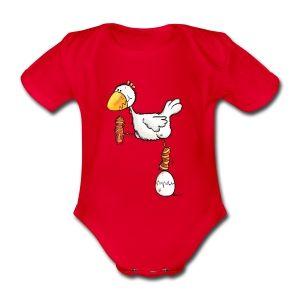 """"""" Танцующая курица"""" – курица – птица – дизайн футболки - детские боди"""