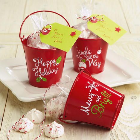 Christmas mini treat pails now diy with for Christmas tin pails