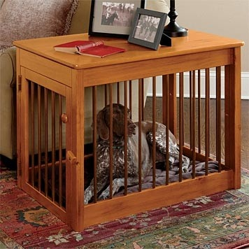 With three unsightly kennels around the house. This will help the look around the things.