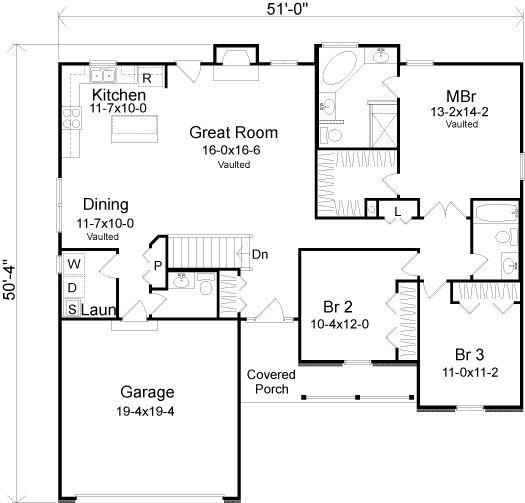 119 best plans maison images on Pinterest Floor plans, Bathrooms - plan maison en u ouvert