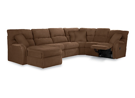 Griffin Sectional with Sleeper Sofa & Recliner