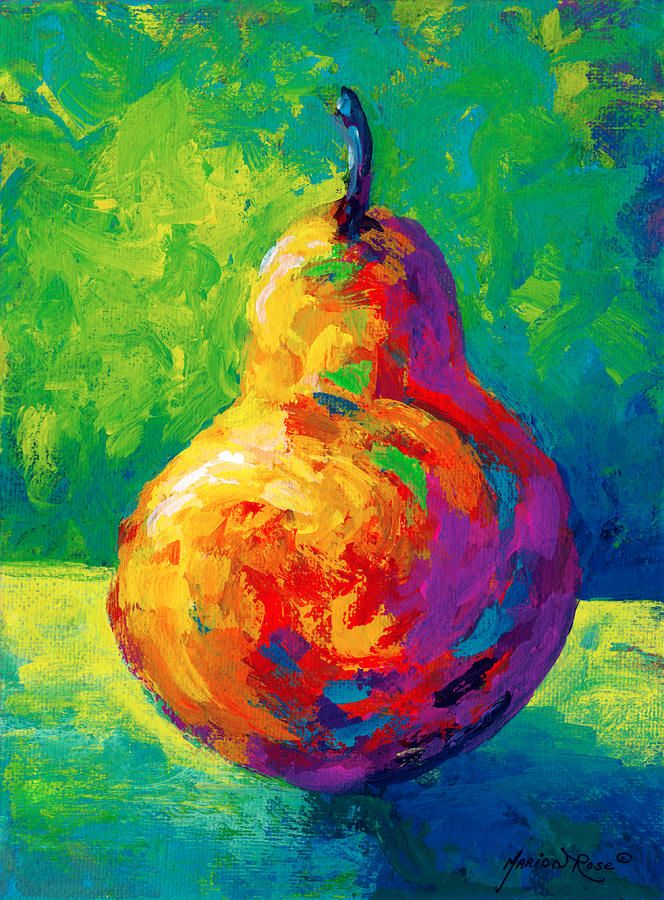 Pear II - acrylic by ©Marion Rose (via FineArtAmerica)