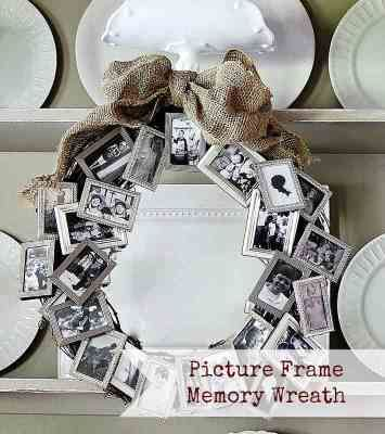 Picture Frame Memory Wreath, this would be a great gift for a grandma