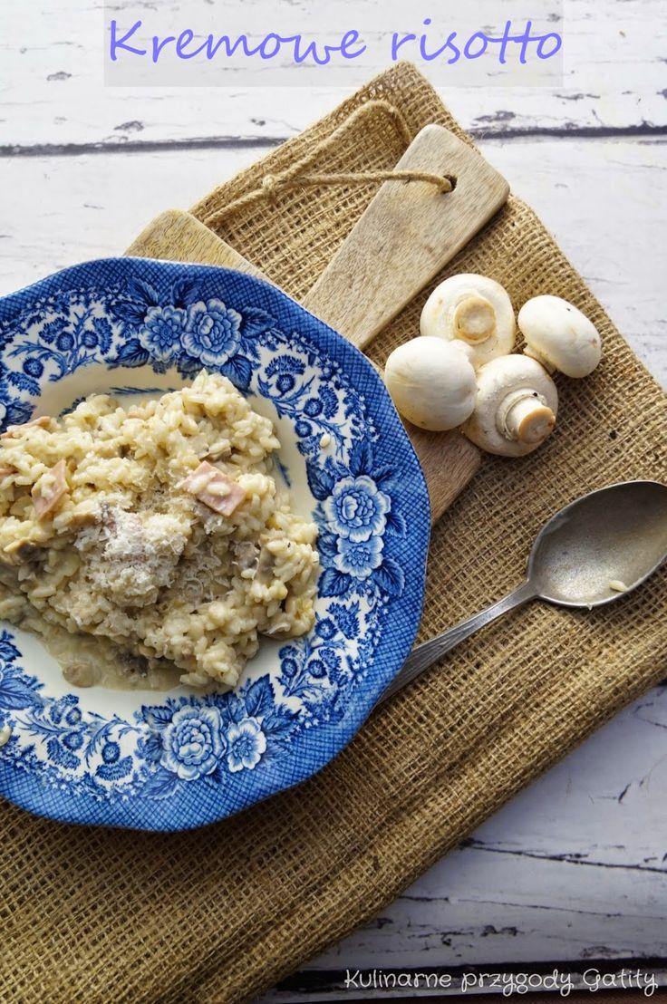 Kulinarne przygody Gatity: Kremowe risotto z szynką i pieczarkami